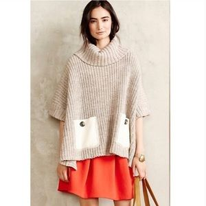 Anthropologie Moth Poncho Sweater